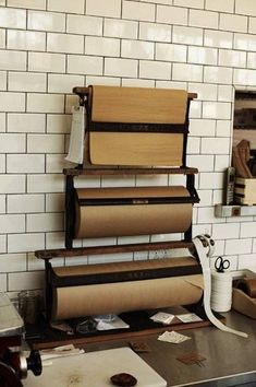 Wrap all the purchases in kraft paper and twine