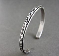 Men's Sterling Silver Cuff Bracelet by LynnToddDesigns on Etsy