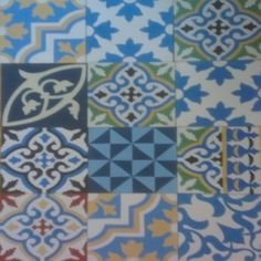 Encaustic Tiles Patchwork (blue dominant colour)