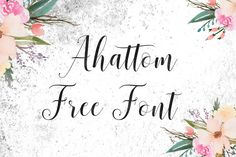 DLOLLEYS HELP: Ahattom Free Font