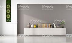 Salle de séjour avec cabinet – banque photo libre de droits