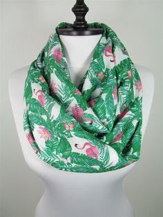 20387c516bae9 Christmas Gift For Her Pink Flamingo Scarf Bird Infinity Scarf Christmas  Gifts For Her, Gifts
