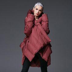 Ladies Jacket Winter Coat Cloak Jumper Plus Size Brands Light Ultra Womens Parka Puffer Large Down 2018 Long Coats Jackets Cape. Winter Jackets Women, Coats For Women, Clothes For Women, Oversized Puffer Coat, Down Winter Coats, Womens Parka, Women Wear, Cloak, Warm
