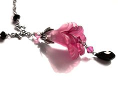 lucite flower necklace - Google Search