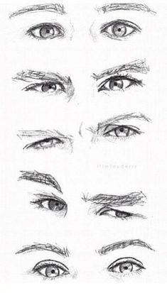I love how i can tell who's eyes it is without color. CAN YOU??? HM?? you probably can..