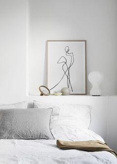 Un coin nuit blanc et minimaliste