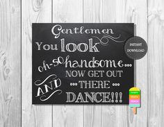 Wedding Bathroom Sign –You Look Oh So Handsome-Instant Download – Gents Bathroom Sign –Chalkboard Sign–8x10 Printable Sign-Toiletries Sign