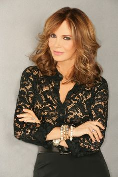 Love her hair tool I heard her on a TV intervie say that her hair has many different colors. Looks like she has a lot of brown still in her hair and it looks like she put a Demi dark blond on the grey in her hair. Love It! Lovely Jaclyn Smith. She is 69!