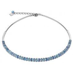 Collier Cœur de Lion cristaux de Swarovski, verre poli sur acier rhodié