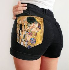 Hand Painted Denim Shorts by Alba González on... |