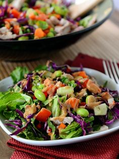 Thai Crunch Salad with Sweet and Spicy Dressing | Mel's Kitchen Cafe
