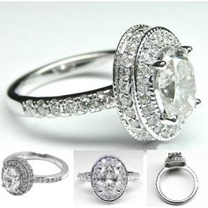 oh my goodness. this is EVERYTHING. ahhhhh. Oval Diamond Engagement Ring