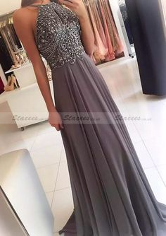 Chiffon Prom Dress With Beaded!#Stacees#Prom