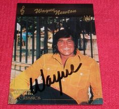 WAYNE NEWTON signed autograph Country Classics Trading Card GIN Las Vegas Legend FREE SHIPPING!