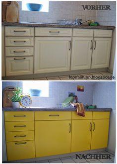 fool fashion: Eine neue Küche für 20,- € Oilcloth for kitchen Doors Wachstuch für Küchenschrank