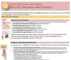 Young Women Materials