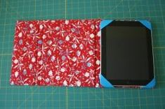 DIY ipad case. Easy and folds into a stand