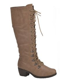 Look what I found on #zulily! Nude Lace-Up Audi Boot by Chase & Chloe #zulilyfinds