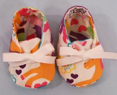 Baby Girls Shoes, Unicorn Baby Shoes, Soft Fabric Shoes, Baby Girls Booties, Made to Match, Baby Shower Gift,  #185 - pinned by pin4etsy.com