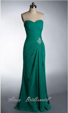 98.00$  Watch now - http://vitdh.justgood.pw/vig/item.php?t=bwahd5y41680 - Green Bridesmaid Dress, Long Chiffon Bridesmaid Dress, Prom Dress Free Shipping