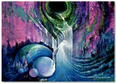 7 Signs You Are Starting to Live in the Fifth Dimension - Conscious Reminder Romantic Artwork, Spiritual Paintings, Impressionist Paintings, Visionary Art, Fantasy, Celestial, Figure Painting, Contemporary Paintings, Figurative Art
