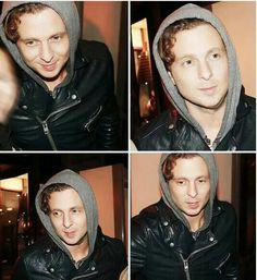 Ryan is so ADORABLE here his hair looks curly and that hood it's like awwww <3