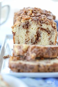 I'm sharing a delicious and easy Cinnamon Nut Quick Bread. Whether you serve it for breakfast, an afternoon coffee break, or dessert, you'll enjoy it! Quick Bread Recipes, Baking Recipes, Dessert Recipes, Cod Recipes, Easy Bread, Dessert Bread, Pudding Recipes, Steak Recipes, Rice Recipes