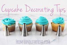 Decoración de cupcakes con diferentes boquillas en un video. Que lo disfruten! (Cupcake Decorating Tips and a video! Enjoy!)