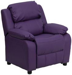 Kids' Recliners - Flash Furniture Deluxe Heavily Padded Contemporary Purple Vinyl Kids Recliner with Storage Arms ** Check out the image by visiting the link. Purple Bedroom Decor, Purple Bedrooms, Purple Furniture, Kids Furniture, Restaurant Furniture, Violet, Contemporary Furniture, Decoration, Dekoration
