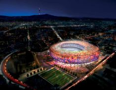 Proposal by Lord Foster for the new Barcelona Football stadium, if they ever build this, it will be absolutely staggering...
