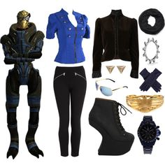 Mass Effect video game character.