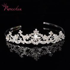 Fashion Royal Sparkling Crystal Luxury Vintage  Hair Crown Wedding Bridal Hair Accessories Tiaras for Prom Party Pageant RE123 #Affiliate