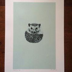 @georgesandstudio Gorgeous green hedgehog