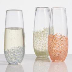 Confetti Stemless Champagne Flutes   World Market
