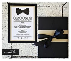 Groom's Day survival kit. Cute gift idea from bride to groom for the big day!