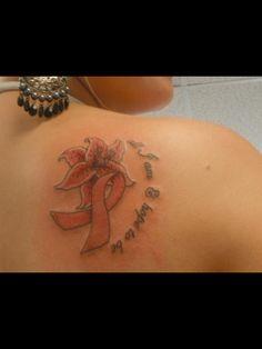 """""""all I am & hope to be"""" for my beautiful momma Leaf Tattoos, Hand Tattoos, Krebs Tattoo, Breast Cancer Tattoos, Tattoo Ideas, Beautiful"""