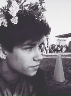 """[is today ok for the formal?] ::Ian:: """"flower crowns don't suit me."""""""