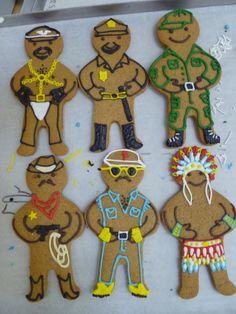 Village People Cookies! by Biscuiteers via http://www.biscuiteers.com
