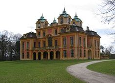 Schloss Favorite is a Baroque maison de plaisance and hunting lodge in Ludwigsburg, Germany. It is located on a rise, directly north of Ludwigsburg Palace.  It was built from 1717 to 1723 for the sovereign Duke of Württemberg, Eberhard Ludwig, to a design by Donato Giuseppe Frisoni.