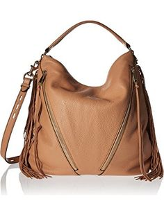 Rebecca Minkoff Fringe Moto Hobo Shoulder Bag, Butter Rum, One Size >>> Check this awesome image @ Best Handbags, Hobo Handbags, Shoulder Handbags, Fashion Handbags, Fashion Bags, Brown Handbags, Chanel Fashion, Rebecca Minkoff Handbags, Hobo Purses