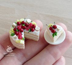 Made to order. Miniature set of cakes for by SweetMiniDollHouse                                                                                                                                                                                 More