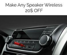 Make Any Speaker Wireless! http://bit.ly/RZSpeakerWireless #Speaker #Wireless #gadgets #car #pc #bluetooth