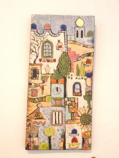 Green House Series # 3 in Raku fired clay by Lynne Wilson