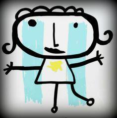 Sie - Art & Craft: Celeste y blanco ♥ Home Activities, Preschool Art, Mandala, Arts And Crafts, Doodles, Snoopy, Drawings, Painting, Portraits