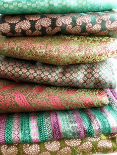 Beautiful rich Indian brocades.