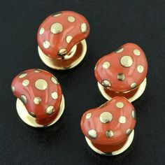 Four studs. Coral and gold.... #taffinjewelry #taffin #jamesdegivenchy #jamestaffindegivenchy