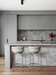Home Interior Design .Home Interior Design Small Modern Kitchens, Grey Kitchens, Luxury Kitchens, Modern Grey Kitchen, Kitchen Contemporary, Grey Kitchen Designs, Outdoor Kitchen Design, Kitchen Decor, Kitchen Ideas