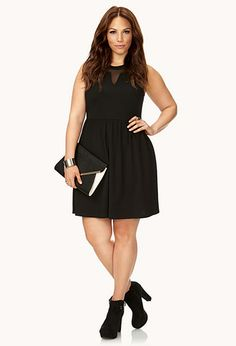Bold Textured Fit & Flare Dress | FOREVER 21 - 2000090325