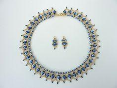 FREE beading pattern for Crystal Petal Earrings