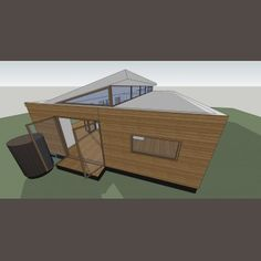 111125 BARRY 02 4 C Prefab, Outdoor Gear, Tent, Shed, Outdoor Structures, House Design, Architecture, Arquitetura, Store